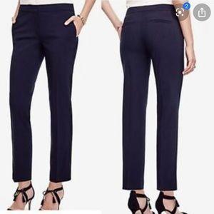 Plus Size Ann Taylor Navy Blue Ankle Pant 14